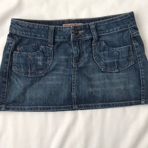 Paris Blues Denim Mini Juniors Jean Skirt